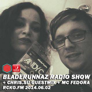 Bladerunnaz Radio Show w/ CHRIS.SU + MC FEDORA + Mentalien @ RCKO.FM 2014.06.02