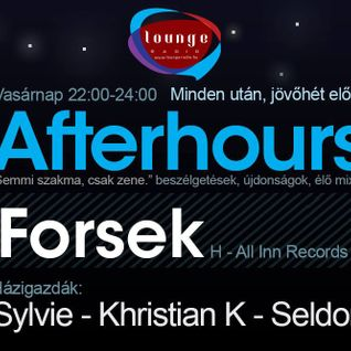 Afterhours 012 - live mix by Forsek (09-08-13)