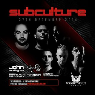 Mark Sherry - Live @ Subculture, The Wright Venue (Dublin) - 27.12.2014