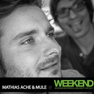 Mathias Ache & muLe @ WEEKEND Club Berlin // 18.07.2013