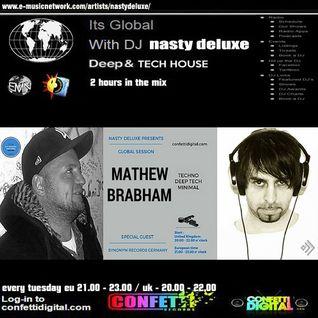 Global Session - Nasty deluxe, Mathew Brabham - Confetti Digital UK - London