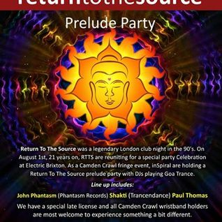Return to the Source - Prelude Party @ Inspiral 21-6-14