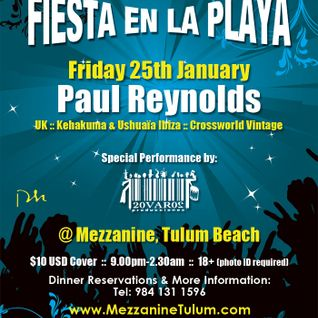Paul Reynolds on Mezzanine Terrace Tulum 25.01.2013