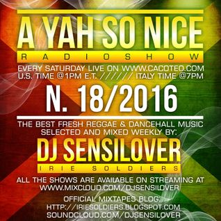 AYSN WEEKLY RADIOSHOW #18/16 FRESH DANCEHALL NOV2016 DJ SENSILOVER