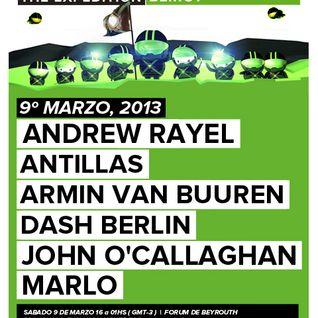 Armin van Buuren - Live @ A State of Trance 600 Beirut (Warm-up set) - 09.03.2013