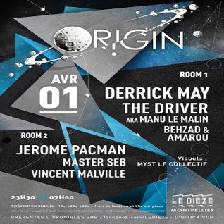 Derrick May @ Origin, Le Dieze-Montpellier, France-April 1, 2016