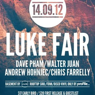 Luke Fair - Live at OneSixOne, Melbourne, Australia (14-09-2012) Part1