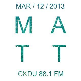 CKDU - March 12 2013