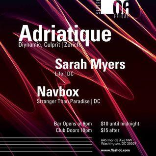 Sarah Myers live at Flash - Washington, DC - 09-06-2013