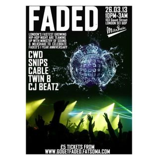 CWD - Faded Anniversary Party at Ministry of Sound 26/03/13