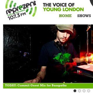 COMMIT - Reprezent 107.3 FM - Basspaths Radio Show July Mix