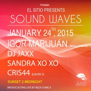 JAXX - SOUND WAVES @ EL SITIO PLAYA VENADO - PANAMA - 24 ENERO 2015