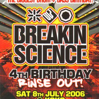 Dj Brockie MC´s Det, Eksman live at Breakin Science 4th Birthday