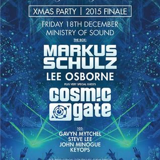 Cosmic Gate - Live @ Ministry of Sound (London) - 18.12.2015