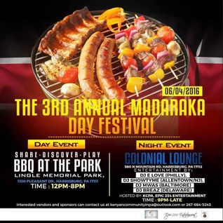 June 4th, Madaraka day weekend celebrations in Harrisburgh P.A.  (afrobeat promo)