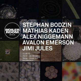 Stephan Bodzin - live at Boiler Room Berlin - 12-Aug-2015