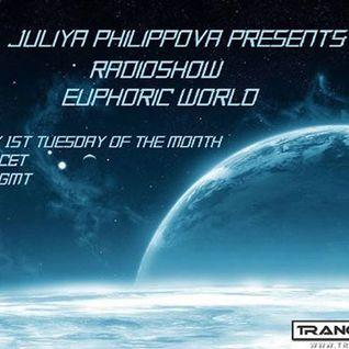 Juliya Philippova - Euphoric World 010 on trance.fm (Apr 05, 2016)