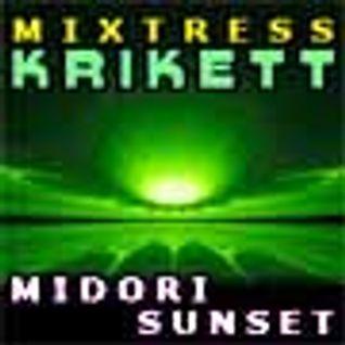 Mixtress Krikett - Midori Sunset - psytrance / night full on