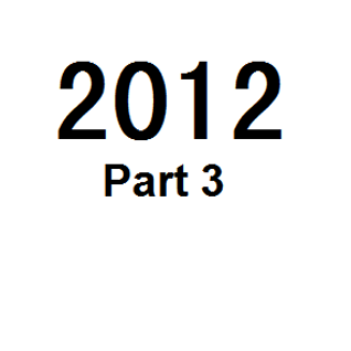 Great Tunes of 2012 - Part 3