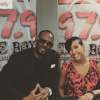 JJ From 979 The Box (Houston ) in the studio with R. Kelly