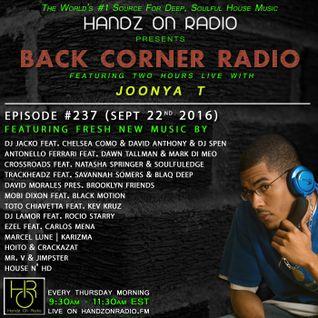 BACK CORNER RADIO: Episode #237 (Sept 22nd 2016)