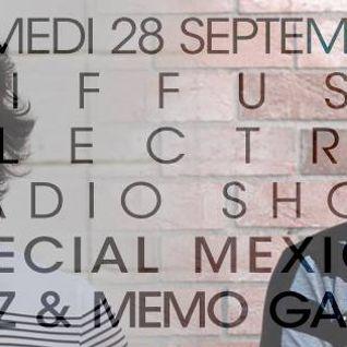 #DERS10 Diffuse Electro Radio Show n°10 - Spécial Mexique w / Memo & Guz Garza