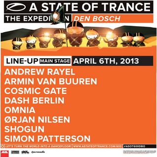 Armin van Buuren - Live @ A State of Trance 600 Den Bosch (Warm-up set) - 06.04.2013