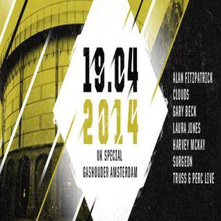 Perc & Truss @ Awakenings Festival - UK Special (Gashouder Amsterdam) (19.04.14)
