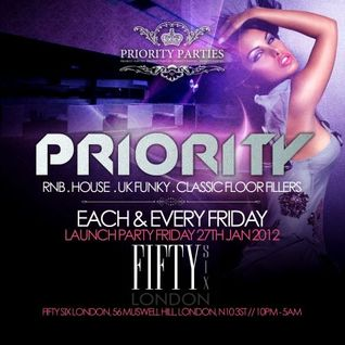Priority Parties Vol. 1 - DJ EAZY B (Launching 27th Jan. 2012)