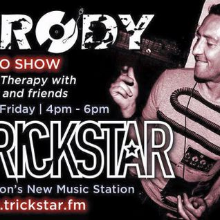 WWW.TRICKSTAR.FM -Listen again-  Extended Music Therapy radio  show 8th Jan 4-7PM Brody LIVE