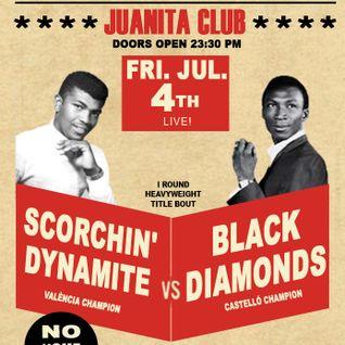 Rocksteady Sound Clash: The Scorchin' Dynamite Sound vs Black Diamonds (04-07-2014 @ Juanita Club)