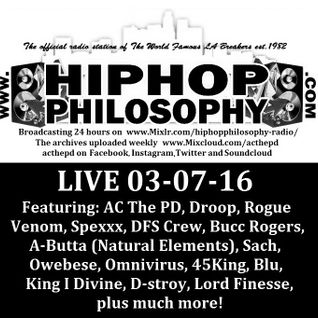 HipHopPhilosophy.com Radio - LIVE - 03-07-16