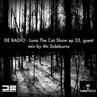 DE RADIO - Luna The Cat Show Ep.33, Guest Mix By Mr.Sideburns