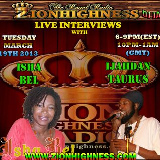 IJAHDAN TAURUS AND THE INTERVIEW WITH DJ JAMMY ON ZIONHIGHNESS.COM 19-03-13