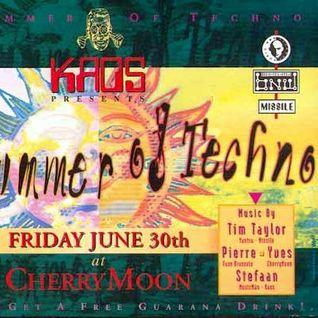 "Tim Taylor at ""The Summer Of Techno"" @ Cherry Moon (Lokeren - Belgium) - 30 June 1995"