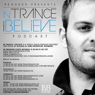 ReOrder - In Trance I Believe 224 - 14.04.2014