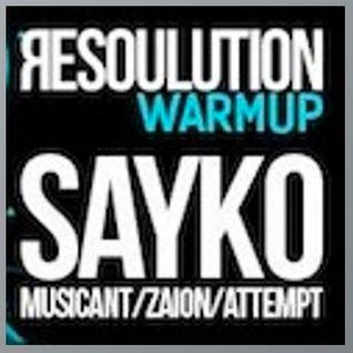Sayko live @ Perpetuum music club - resolution warmup / liquid dnb
