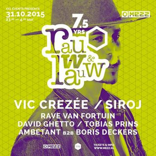 David Ghetto's DJ Set @ Rauw & Lauw 7,5 Years, 31-10-'15, Mezz, Breda.