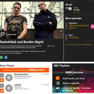 RadioKillaZ Quest Bonfire Mix from Annie Nightingale's Radio 1 / 1Xtra Show 05-11-2014
