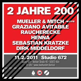 Raucherecke DJ Set @ 2 Jahre 200, February 11, 2011, 200 Club, Studio 672, Cologne
