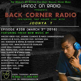 BACK CORNER RADIO: Episode #208 (March 3rd 2016) [4YR Anniversary]