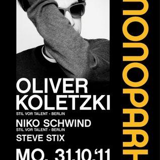 Oliver Koletzki Live @ Monopark Münster 31.10.2011