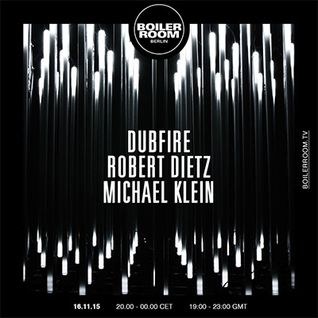Dubfire - live at Boiler Room, Berlin [FULL SET] - 16-Nov-2015