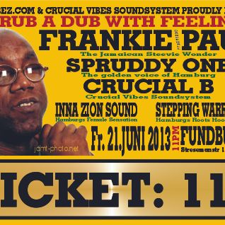 Crucial vibes Sound feat. Spruddy One and Frankie Paul at Fundbureau Hamburg