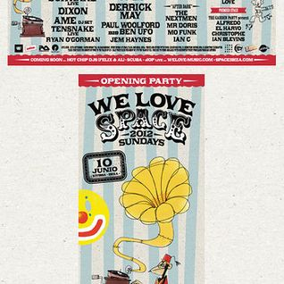 Dixon, Âme, Henrik Schwarz - Live @ Opening Party We Love Sundays, Space, Ibiza (10-06-2012)