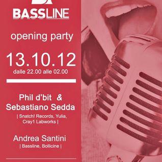 14-10-2012  --  Phil d'bit & Sebastiano Sedda @ CREAM CAFE'
