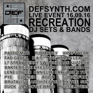 D.E.F. Live #16 DJ sets & Bands Recreation