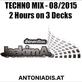 Joakim A. - TECHNO MIX - 2 Hours on 3 Decks - recorded 08/2015
