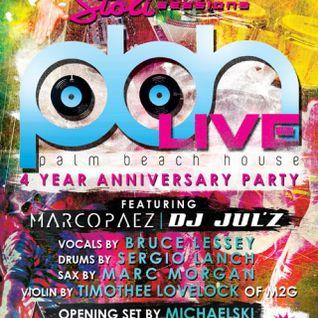 Marco Paez Live @Palm-Beach-House 4yr Anniversay Party @Monarchy (06.01.2012)