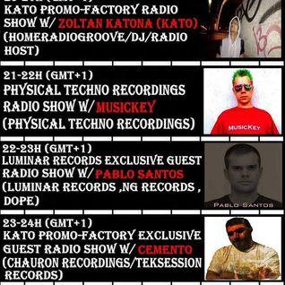 20160614 23-24h (gmt+1) Kato PrOmO-Factory Exclusive Guest Radio Show w/CementO (Chauron Recordings)